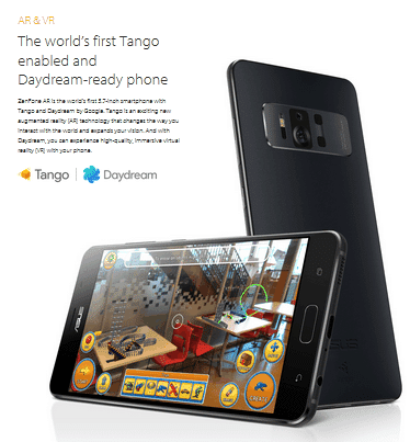 Asus Zenfone AR dengan Teknologi Google Tango