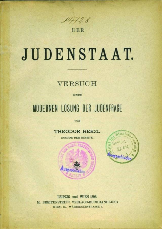 Der Judenstaat, Buku yang Menjadi Pemicu Aksi Zionisme